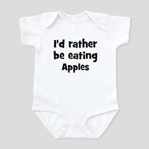 Rather be eating Apples Infant Bodysuit