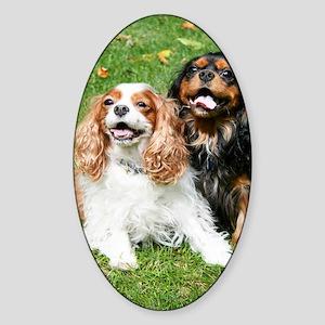 Happy Cavalier King Charles Spaniel Sticker (Oval)