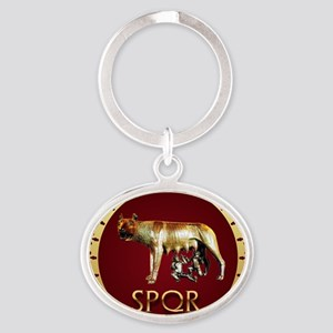 imperial rome Oval Keychain