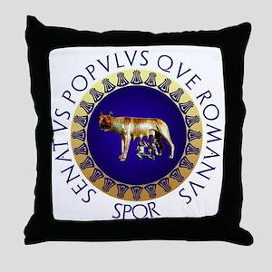 Roman design Throw Pillow