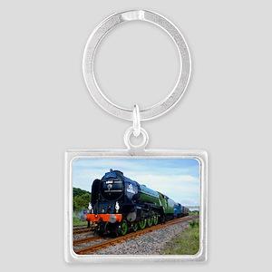 Flying Scotsman - Steam Train Landscape Keychain