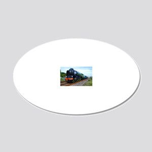 Flying Scotsman - Steam Trai 20x12 Oval Wall Decal