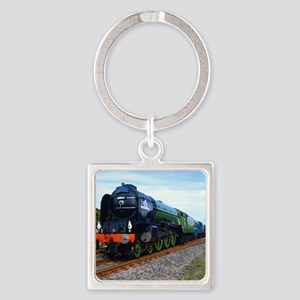 Flying Scotsman - Steam Train Square Keychain