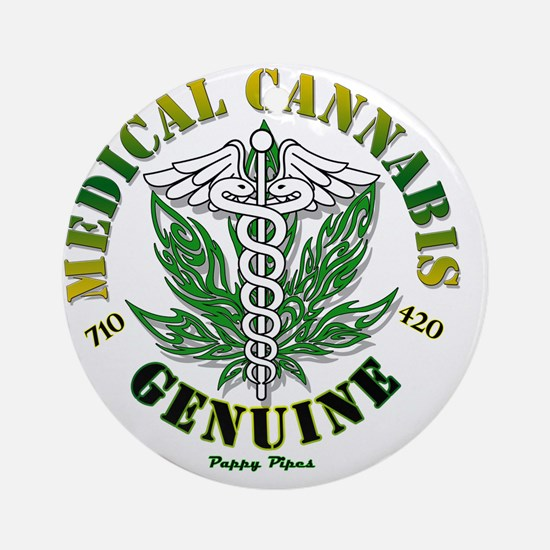 Genuine Medical Cannabis Round Ornament