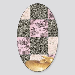 Sleepy Bunny Large Sticker (Oval)