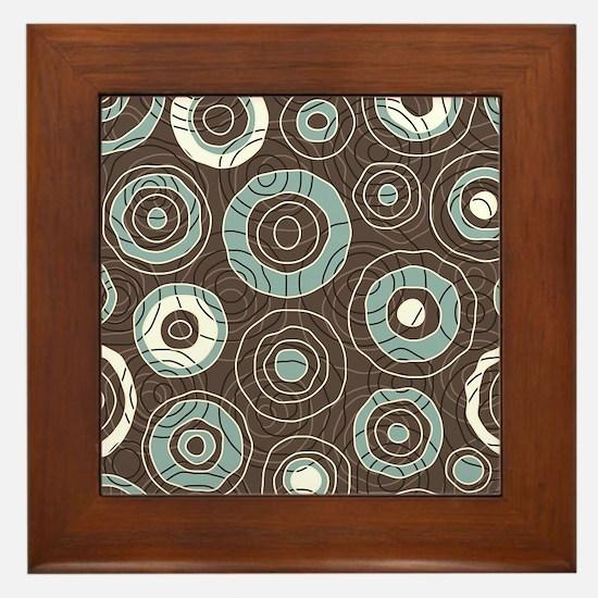 Circles Pattern Framed Tile