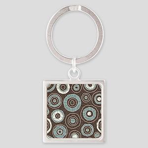 Circles Pattern Square Keychain
