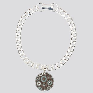 Circles Pattern Charm Bracelet, One Charm