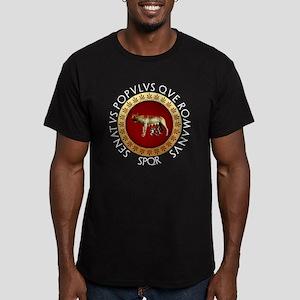 Roman design Men's Fitted T-Shirt (dark)