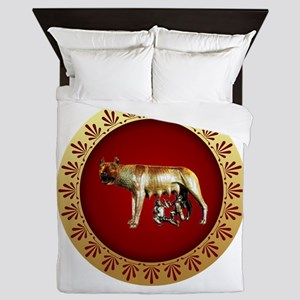 Roman design Queen Duvet