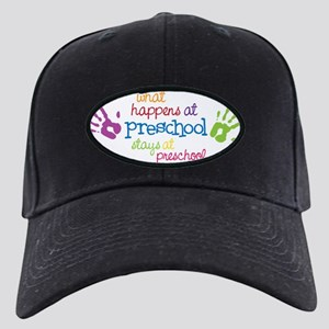 Stays At Preschool Black Cap