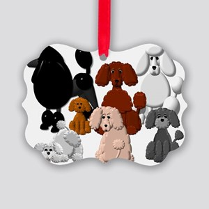 TINY POODLE PACK COLLAGE Picture Ornament