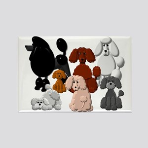 TINY POODLE PACK COLLAGE Rectangle Magnet