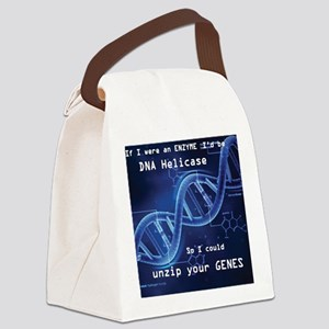 DNA unzip you genes Canvas Lunch Bag