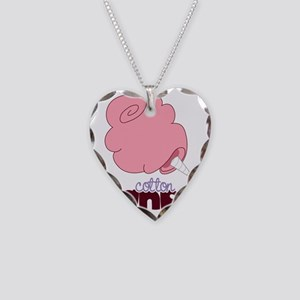 Cotton Candy Necklace Heart Charm