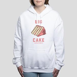 Alpha Xi Delta Big Cake Women's Hooded Sweatshirt