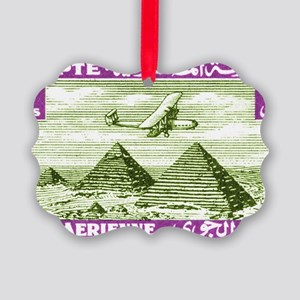 1933 Egypt Airplane Over Pyramids Picture Ornament
