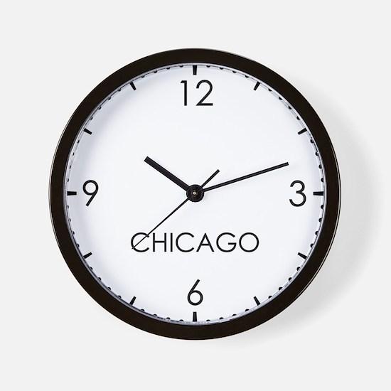 CHICAGO World Clock Wall Clock