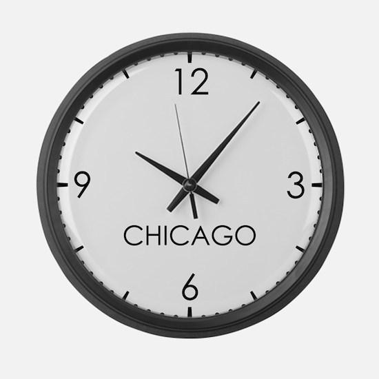 CHICAGO World Clock Large Wall Clock