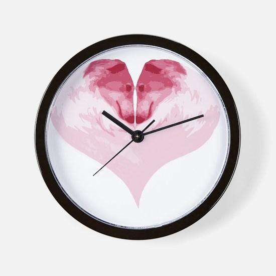 ZoiHeartPinkCutout Wall Clock