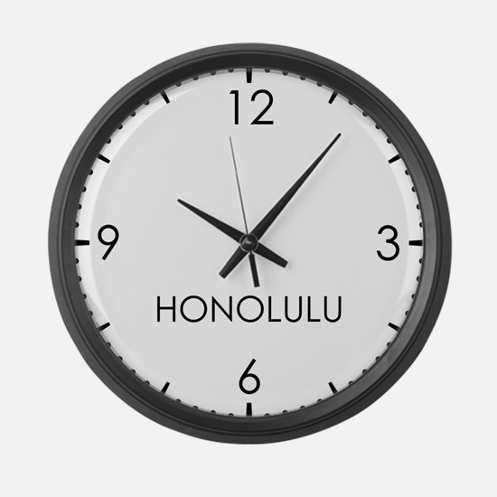HONOLULU World Clock Large Wall Clock
