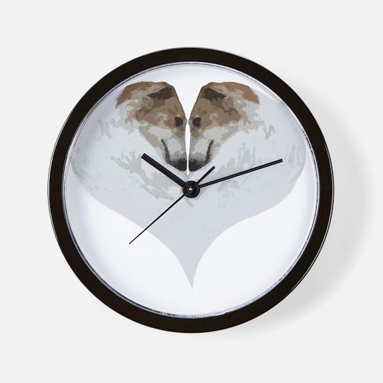ZoiHeartNaturalDryBrushCutout Wall Clock