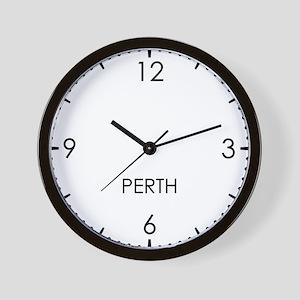 PERTH World Clock Wall Clock