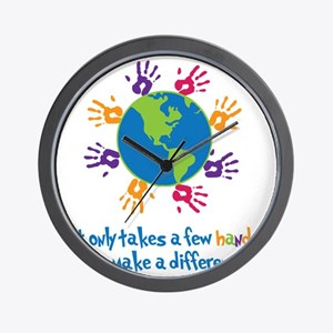 Make A Difference Wall Clock