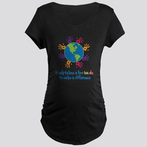 Make A Difference Maternity Dark T-Shirt