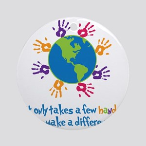 Make A Difference Round Ornament