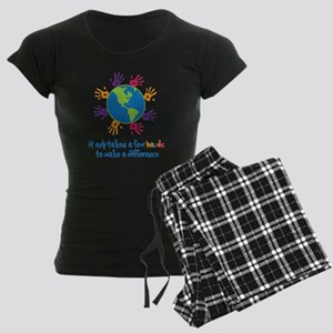 Make A Difference Women's Dark Pajamas