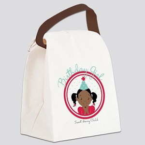 Bday Girl REd Canvas Lunch Bag