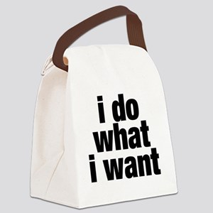 i do what i want Canvas Lunch Bag