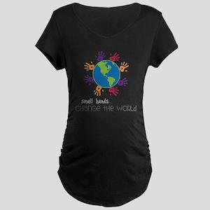 Small Hands Maternity Dark T-Shirt