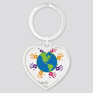 Small Hands Heart Keychain