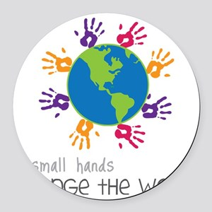 Small Hands Round Car Magnet
