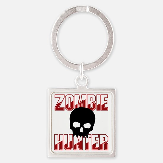 Zombie Hunter Square Keychain