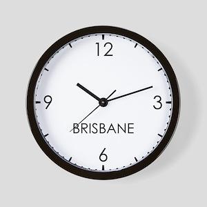 BRISBANE World Clock Wall Clock