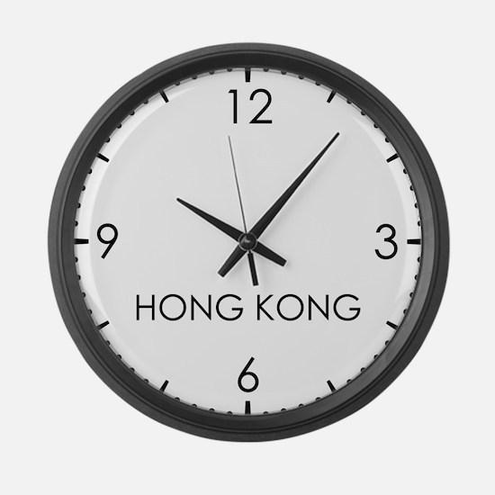 HONG KONG World Clock Large Wall Clock