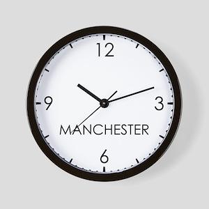 MANCHESTER World Clock Wall