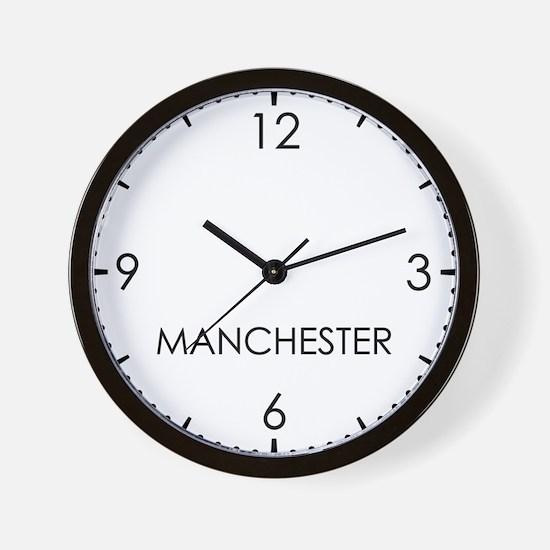 MANCHESTER World Clock Wall Clock