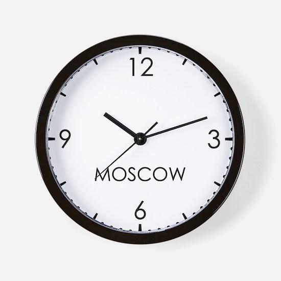 MOSCOW World Clock Wall Clock