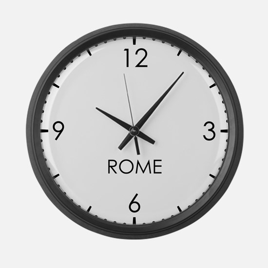ROME World Clock Large Wall Clock
