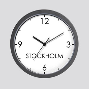 STOCKHOLM World Clock Wall Clock