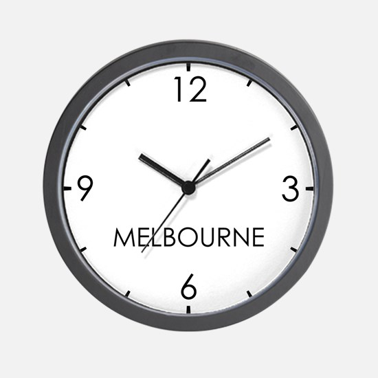 MELBOURNE World Clock Wall Clock