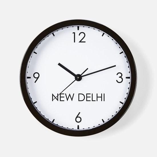 NEW DELHI World Clock Wall Clock