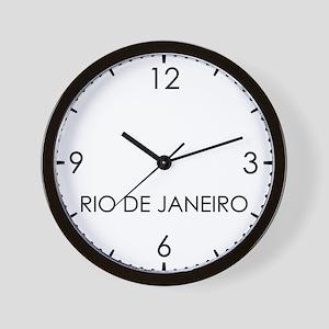 RIO DE JANEIRO World Clock Wall Clock