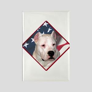 Dogo Flag 2 Rectangle Magnet