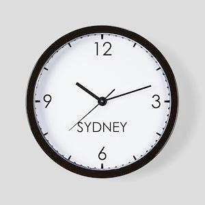 SYDNEY World Clock Wall Clock