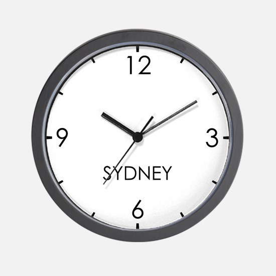 SYDNEY World Clock Wall Clock